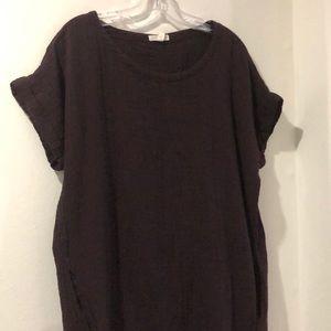 Gauze 100% organic cotton dress. Plum color